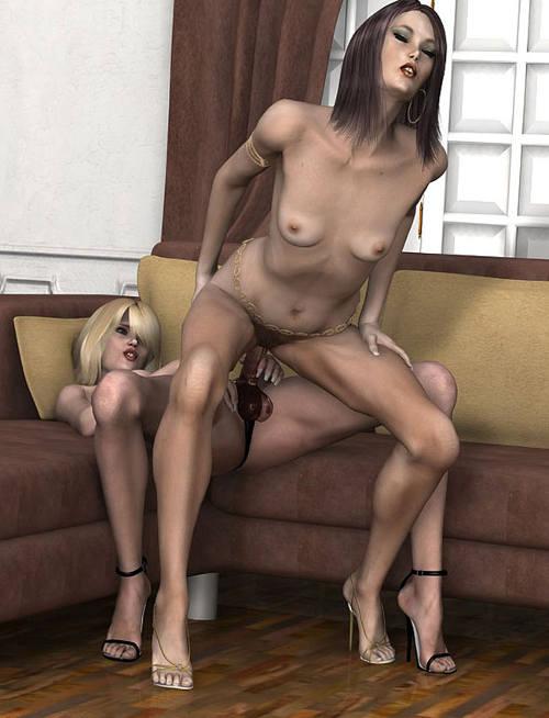 3d lesbian sex