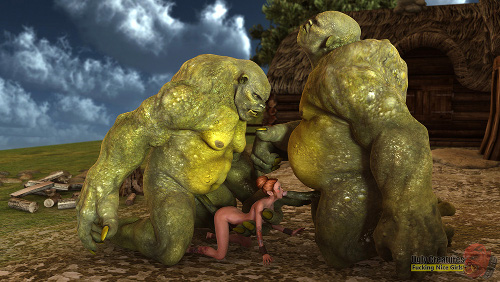 3d monster porn threesome